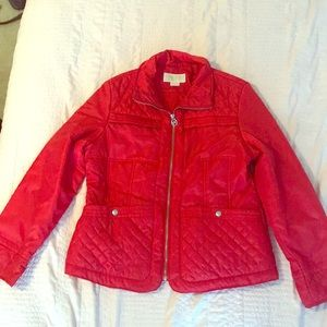 Michael Kors Red Quilted Jacket, Size Large